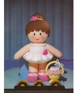 Jean Greenhowe Knit Mascot Dolls Display Stand Nurse Santa Brownie Patterns - $12.99