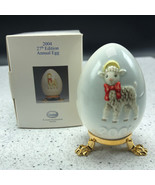 2004 GOEBEL ANNUAL EASTER EGG West Germany 27th edition figurine lamb sh... - $29.65