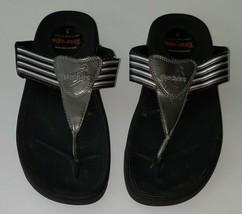 Skechers Tone-Ups Brown Flip Flop Sandal Thong Shoe Women Size 9 Slide Tan - $29.65