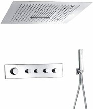 Fontana Showers Platinum Thermostatic Ceiling Mount Bathroom Shower Set ... - $2,474.55