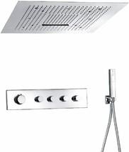 Fontana Showers Platinum Thermostatic Ceiling Mount Bathroom Shower Set ... - $2,474.55