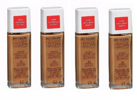 Lot of 4: NEW Revlon Nearly Naked Liquid Makeup SPF 20 in 230 Nutmeg (Se... - $19.79