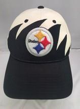 Reebok Pittsburgh Steelers Adjustable Hat Black White  - $9.89