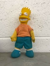 "Fast Food Toy Plush Stuffed Simpsons Bart 9"" Burger King 1990 - $3.96"