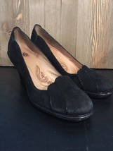 Sofft Comfort 9 N Heels Suede/Leather Pumps Shoes Scalloped Trim  Black X - $15.83