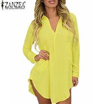 Women's Blouses, Shirts Look Long Spring Long Sleeve Collar Mini - $27.99
