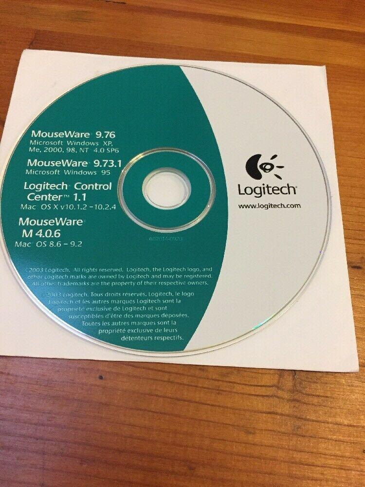 Vtg 2003 Logitech Control Center MouseWare Mouse Software Disc 9.76 Windows Mac - $16.99