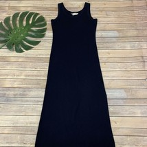 Exclusively Misook Sleeveless Maxi Dress Size XS Navy Blue Sleeveless Knit - $30.09