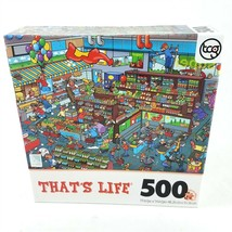 Thats Life Supermarket Food Frenzy Jigsaw Puzzle 500 Pieces NEW Daily Sc... - $12.86