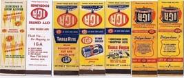 Supermarket Matchbook Covers (7) Different IGA Front Strike - $4.52