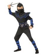 Kids Blue Ninja 4 Piece Halloween Costume L 12-14 Rubie's Opus Collection - $18.80