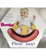 Bumbo Baby Infant Soft Foam Wide Floor Seat w/ Adjustable Harness, Living Coral - $49.45