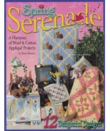 Spring Serenade, Chitra Wool & Cotton Applique Quilting Pattern Booklet ... - $4.95