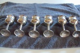 Grape Design Silver Plated Liquor Toasting Cordials (set OF 6) - $38.70
