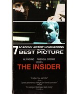 The Insider VHS Al Pacino Russell Crowe Christopher Plummer - $1.99