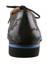 Not Rated Women's Ladies Black Studded Flat Knoxville Oxford Shoes NIB image 3