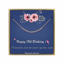 IEFLIFE 18th Birthday Gifts for Girls - Crystal Beads Necklace Girl Birt... - $30.86