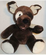 "BUILD A BEAR FUDGE PUP PUPPY DOG 14"" DARK CHOCOLATE BROWN PLUSH STUFFED ... - $11.99"