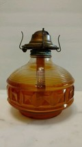 Vintage 1960s Amber Block Oil Lamp P&A Burner - $16.34