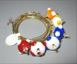 Brand NEW! Handmade Lampwork Beads Wine Glass Charm Set - $22.00
