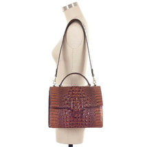 NWT Brahmin Francine Leather Satchel/Shoulder Bag in Pecan Melbourne - $299.00