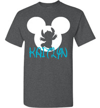Mickey Mouse Stitch Shirt Personalized Name Tee Birthday Party Disney Wo... - $20.00