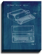 Apple Personal Computer Patent Print Midnight Blue on Canvas - $39.95+