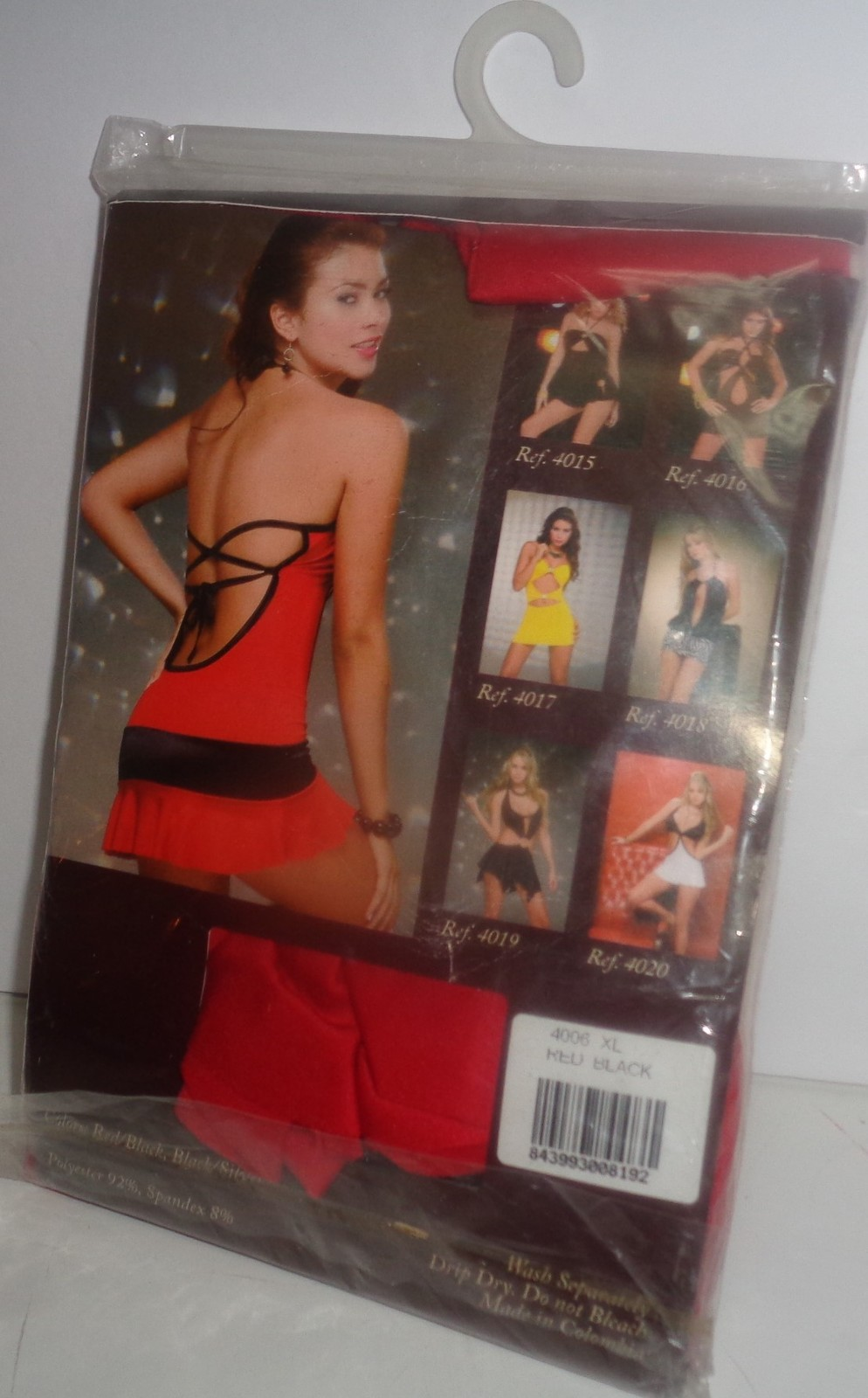 Spiral Lingerie Clubwear NIP SZ XL Style 4006 Red & Black One Piece