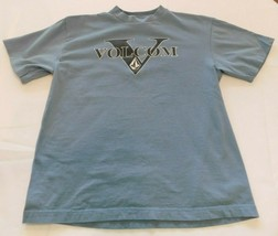 Volcom M medium Boys Youth Short Sleeve T Shirt cotton Blue Pre-owned EUC - $13.36
