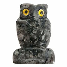 "Loveliome 2.0"" Moonstone Owl Bird Sculpture Statue Crafts Healing Reiki ... - $18.36"
