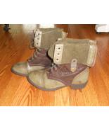 """Wanted"" Women's Bobby Boots Sz 10 Med US Khaki/Brown Green Zip Back Fol... - $64.34"