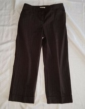 Women's Jones New York Capri Pants ~ Brown w/Stripes ~ Sz 6P Petite ~ St... - $14.84