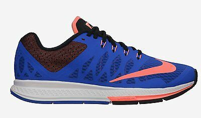 NIKE WOMEN'S AIR ZOOM ELITE 7 SHOES SIZE 6 hyper cobalt mango black 654444 400