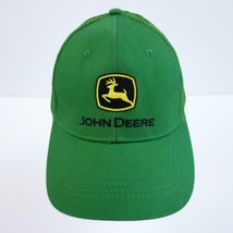 John Deere Embroidered Mesh Truckers Baseball Cap Hat Adjustable - $21.67