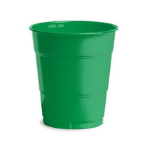 12 oz Solid Plastic Cups Emerald Green/Case of 240 - $55.88