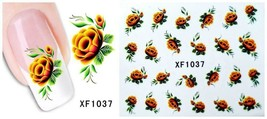 Nail Art Water Transfer Sticker Decal Stickers Pretty Flowers Yellow XF1037 - $2.99