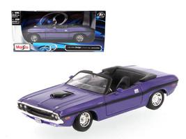 1970 Dodge Challenger R/T Convertible Purple 1/24 Diecast Model Car by Maisto - $34.95