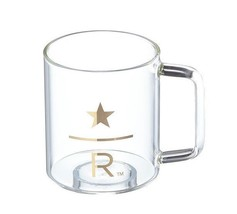 Starbucks Korea 2018 Reserve Gold Handle Glass - $24.75