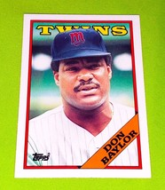 Vintage Don Baylor Minnesota Twins Hof 1988 Topps Tiffany Baseball GD/VG - $1.35