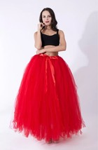 Adult Tutu Maxi Skirt Drawstring High Waist Party Tutu Tulle Skirt Petticoats  image 9