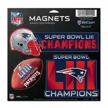 "New England Patriots Super Bowl LIII Champions 11""x11"" 3 pack Magnets Wi... - $17.95"
