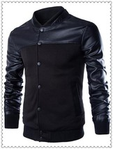 The Best Quality Uk Size XS-L 2018 New fashion mens pu leather jackets a... - $57.94