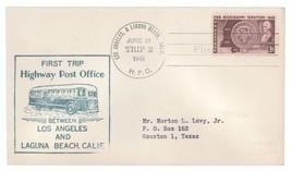 First Trip Highway Post Office 1948 Los Angeles - Laguna Beach Trip 2 HP... - $2.99