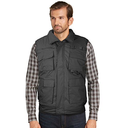 Men's Multi Pocket Zip Up Military Fishing Hunting Utility Tactical Vest (4XL, C