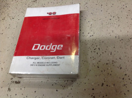 1968 Dodge Charger Coronet Dart Workshop Service Shop Repair Manual New - $89.09