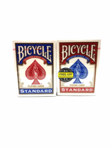 Bicycle Playing Cards STANDARD-2 Decks (1 Blue/ 1 Red)Poker Game And Entertain - $7.69
