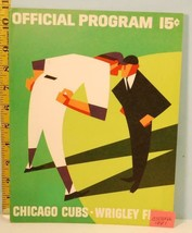 1966 Chicago Cubs Baseball Program vs S.F Giants Unscored April 19 Mays ... - $19.75