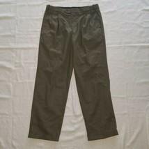 Men's Van Heusen Dress Pants ~ Sz 36W 32L ~ Brown ~ Pleated ~ Cuff ~ Pol... - $14.84