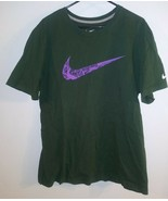 Nike Men's Short Sleeve Swoosh Logo Printed T-Shirt Green Programed 2 Wi... - $17.81