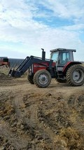 1989 Massey Ferguson 3650 With Loader For Sale In Minden City, Michigan 48456 image 2